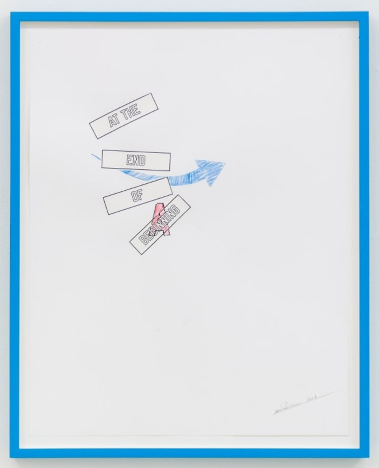 A BEGINNING by Lawrence Weiner