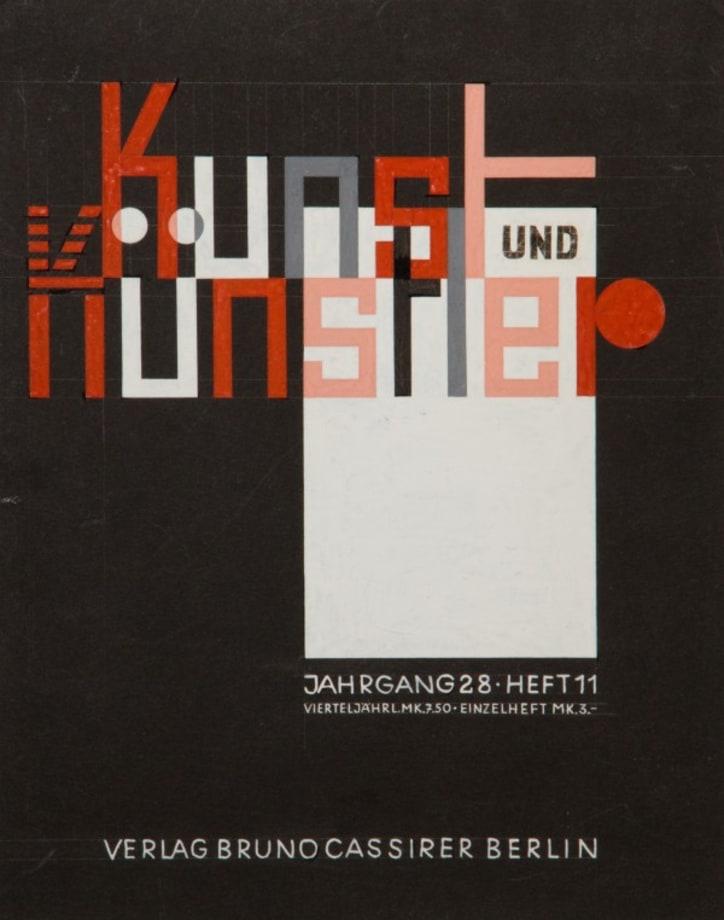 Kunst und Kunstler by Grete Stern