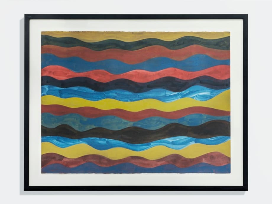 Irregular Wavy Horizontal Color Bands by Sol LeWitt