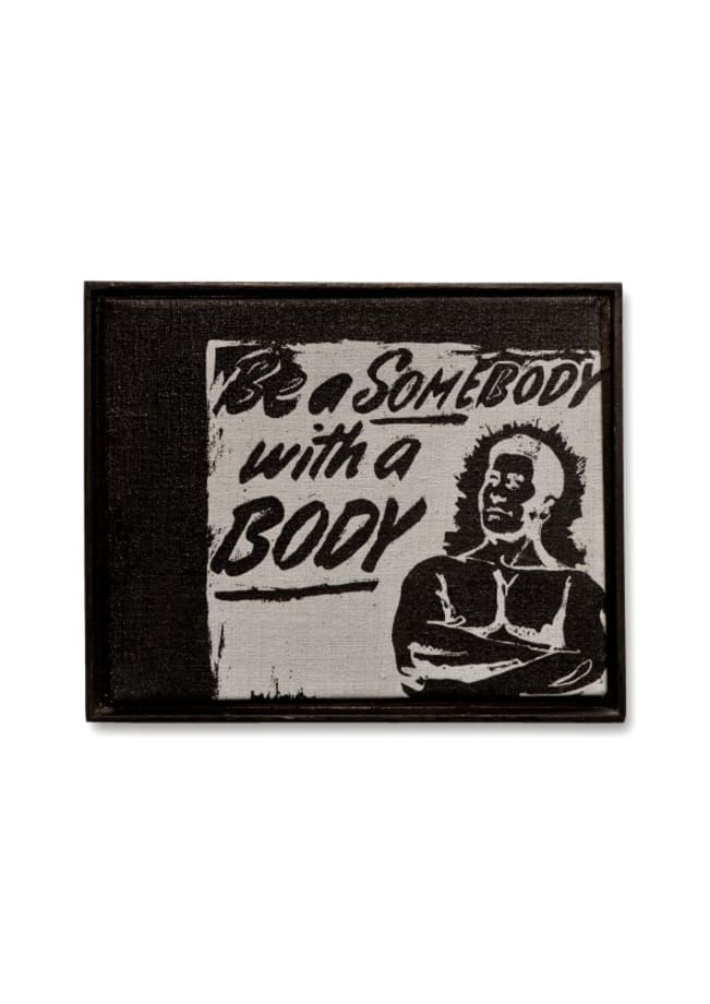 Be a Somebody with a Body by Andy Warhol