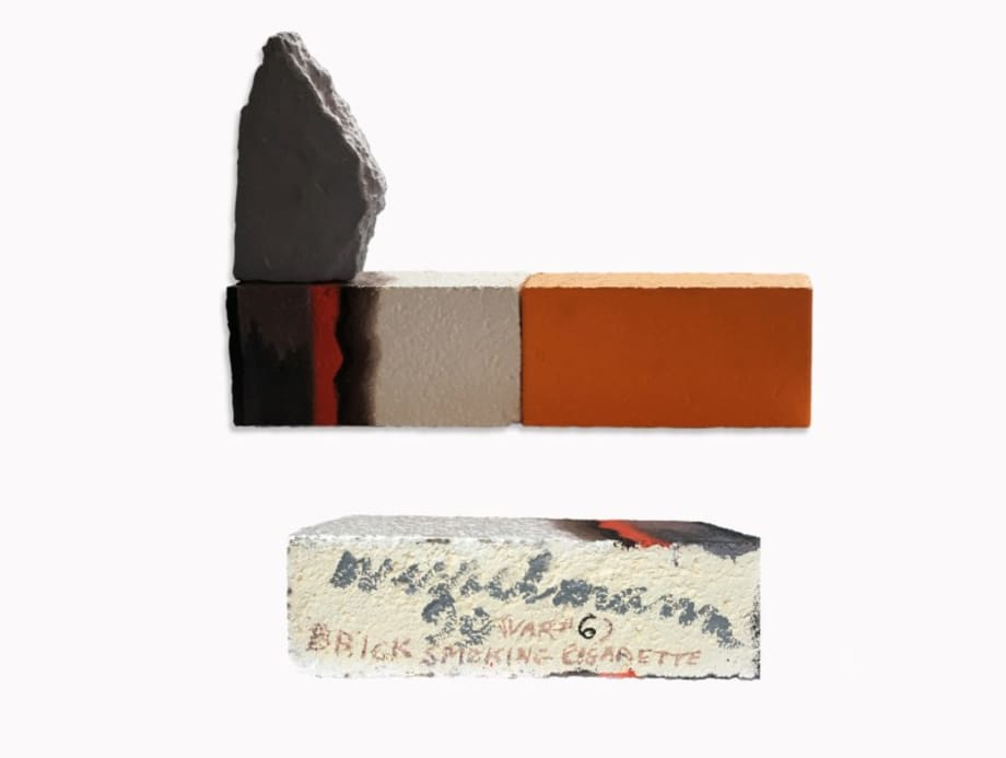 Brick Smoking Cigarette (Var #6) by Tom Wesselmann