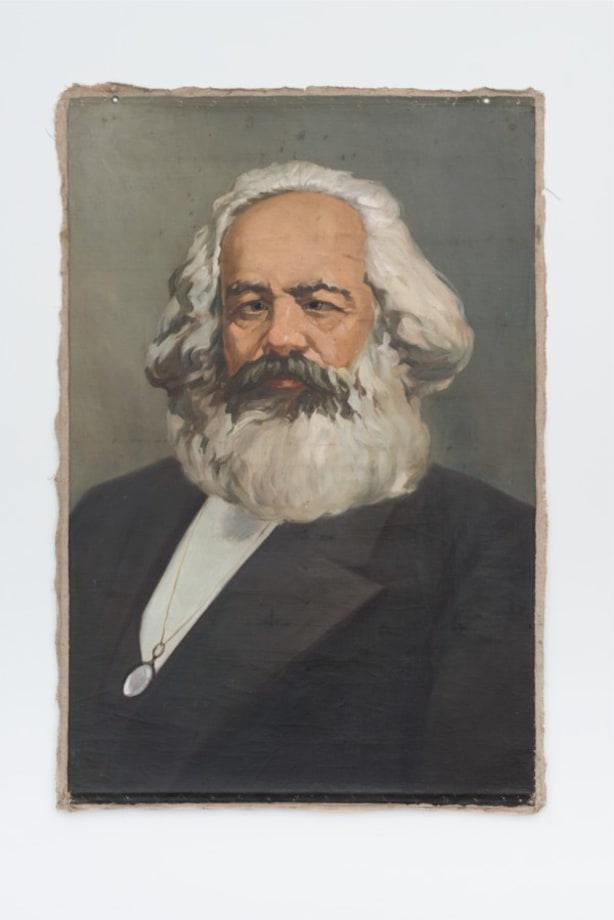 Karl Marx with cross-eyes by Hans-Peter Feldmann