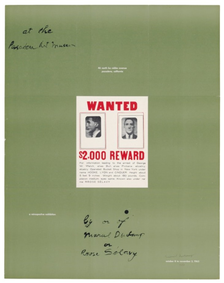 Poster Within a Poster by Marcel Duchamp