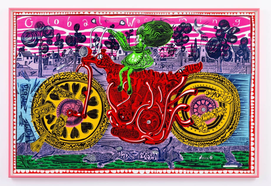 Selfie with Political Causes by Grayson Perry