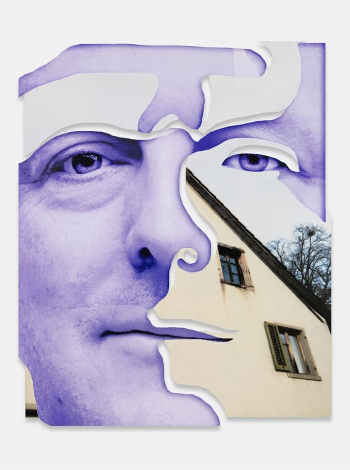 Purple house by Urs Fischer
