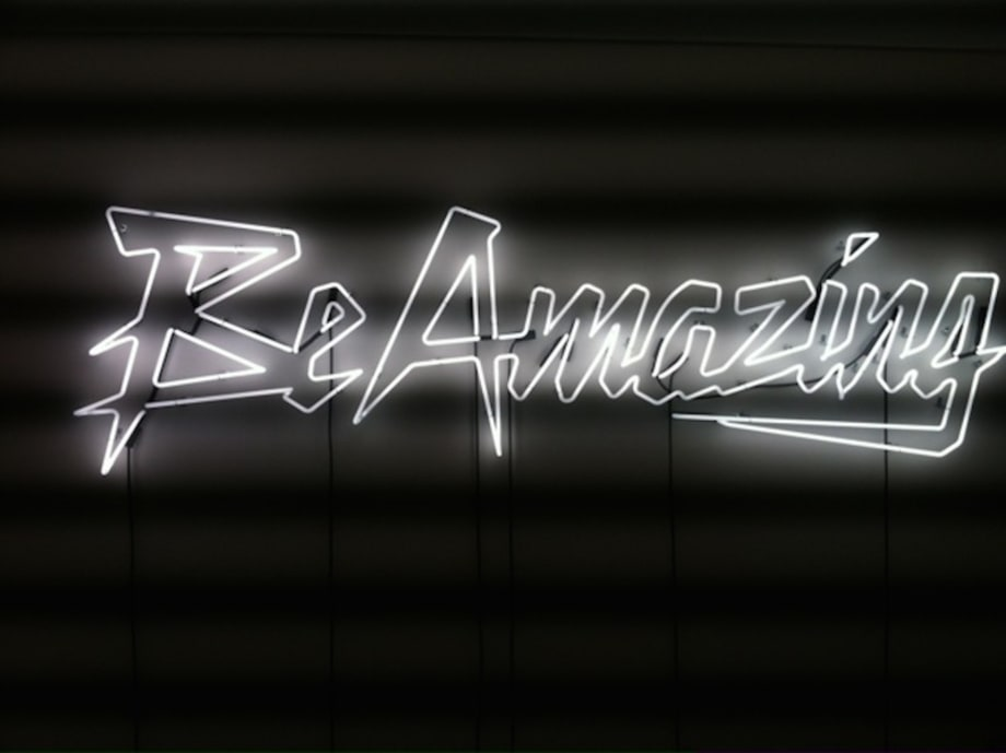 Be Amazing (White) by Sylvie Fleury
