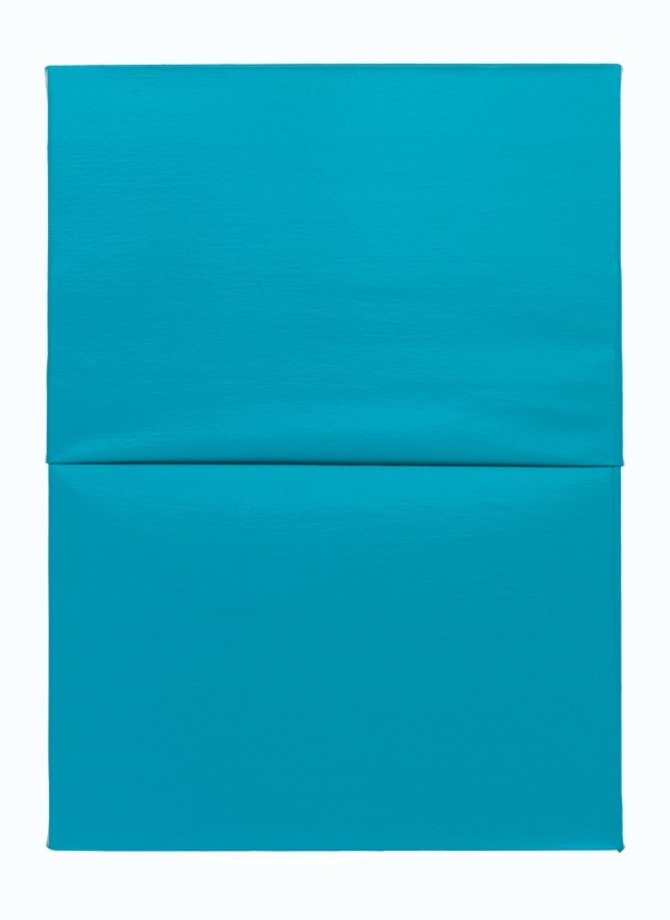 Untitled I (Folded) Turquoise by Angela de la Cruz