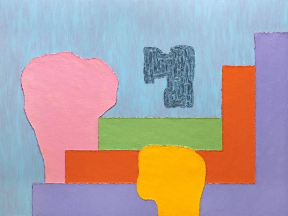 Platonic Landscape by Jonathan Lasker