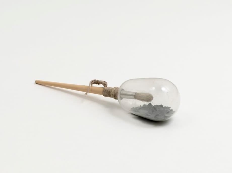 Schieferpinselrassel (Rasselpinselschieferstaub) by Sigmar Polke