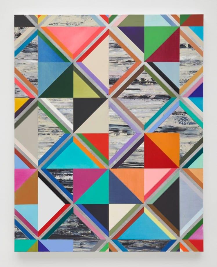 Diagonal prata (Diagonal Silver) by Luiz Zerbini