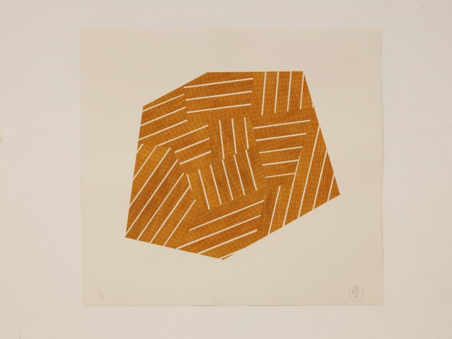 Orange & Yellow Division by Richard Deacon