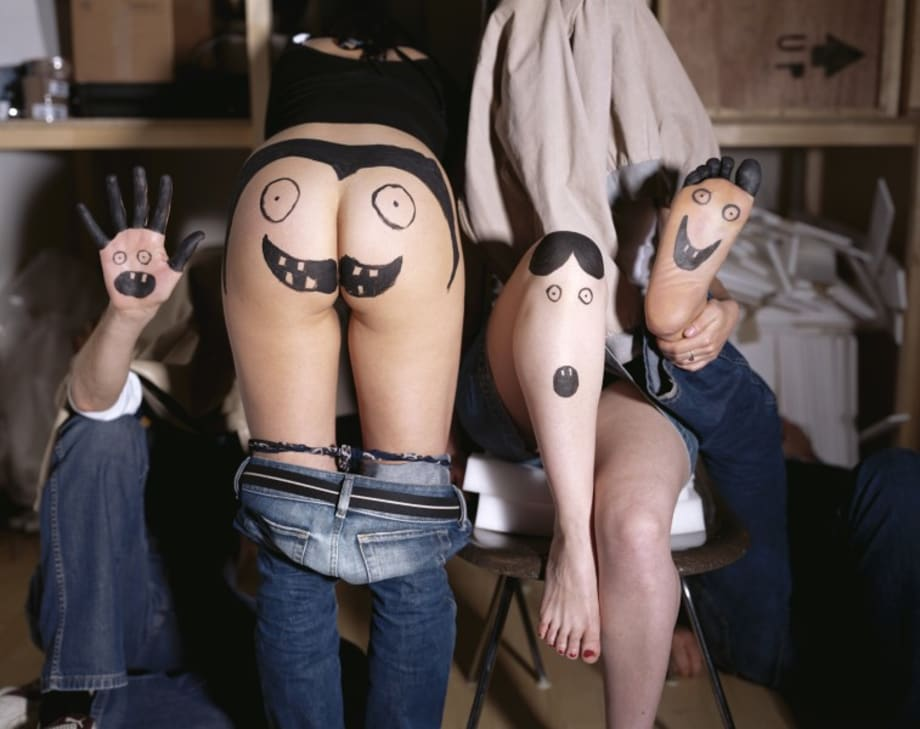 Mr. Hand, Mrs. Ass, Mrs. Knee, Mr. Foot by Olaf Breuning