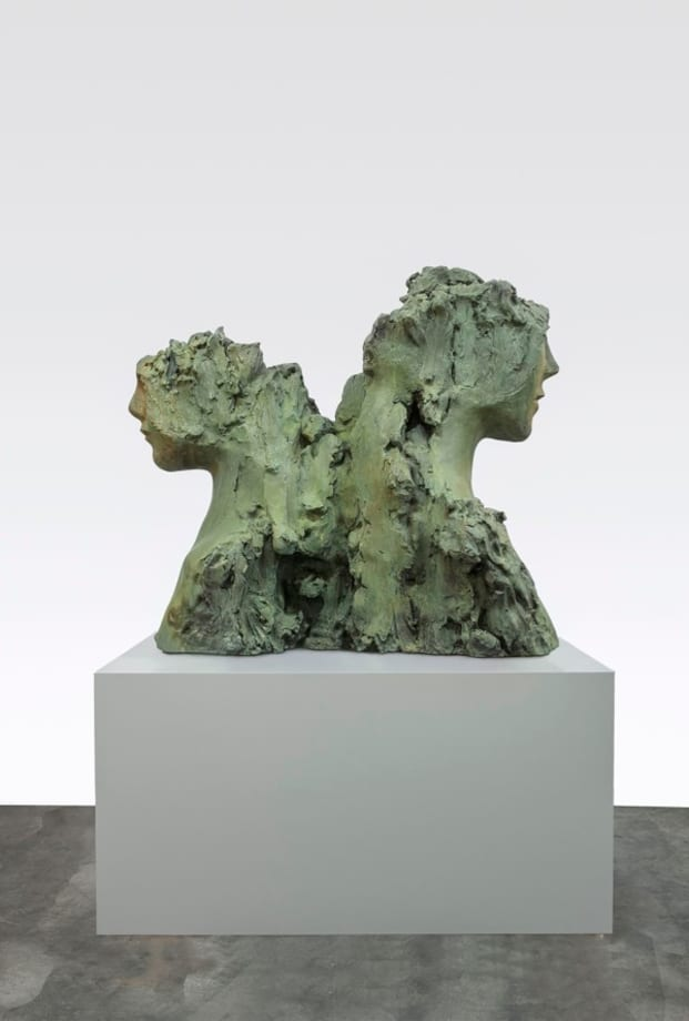 Two Immovable Heads by Mark Manders