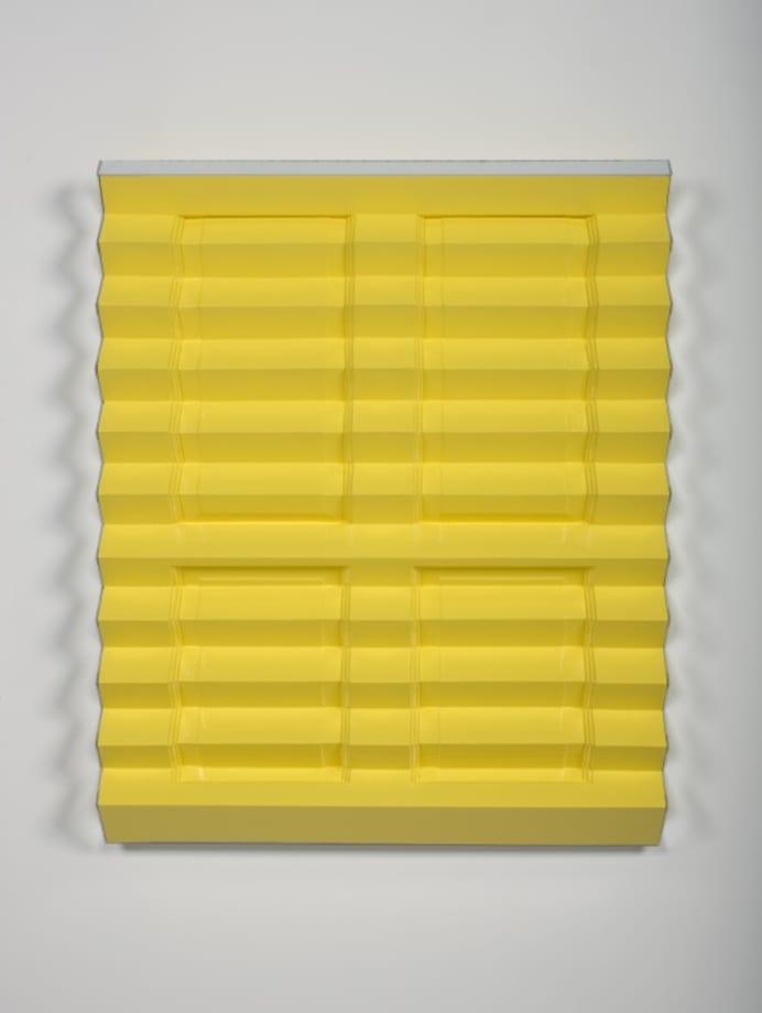 Radiator (yellow) by Jim Lambie