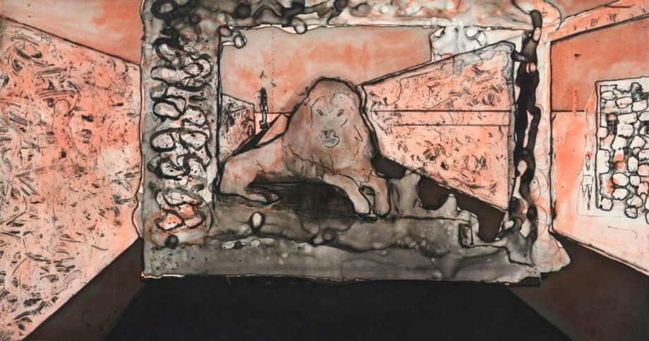 Lion in the Road by Peter Doig