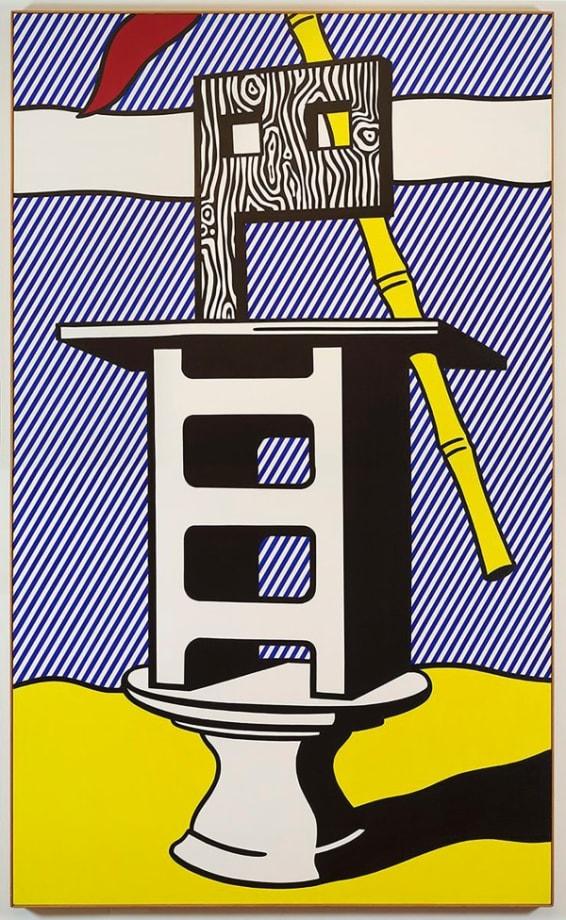 Figure with Banner by Roy Lichtenstein