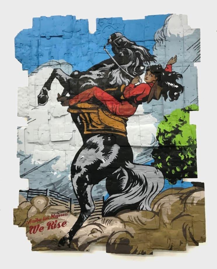 ¡Arriba Las Mujeres! We Rise, (Cover, Adelita y las Guerrillas, No. 47. Jose G. Cruz, 1953.) by Andrea Bowers
