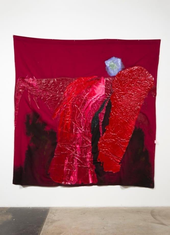 nebula; violet into green by Rodney McMillian