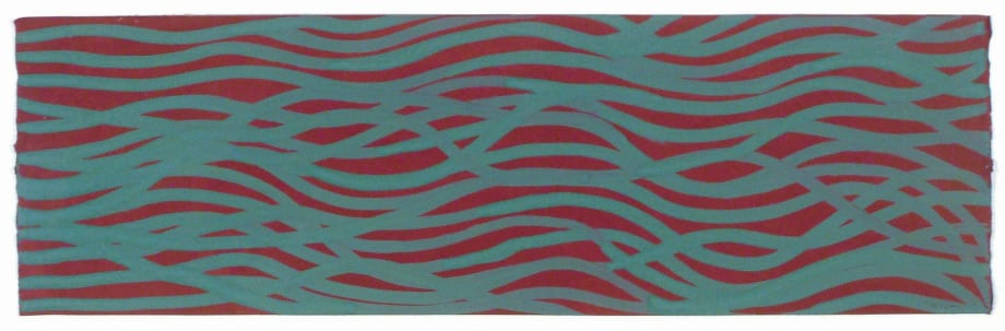 Untitled (Green wavy lines) by Sol LeWitt