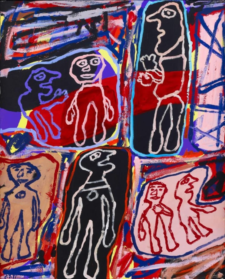 L'actif moment  3 janvier 1981 by Jean Dubuffet