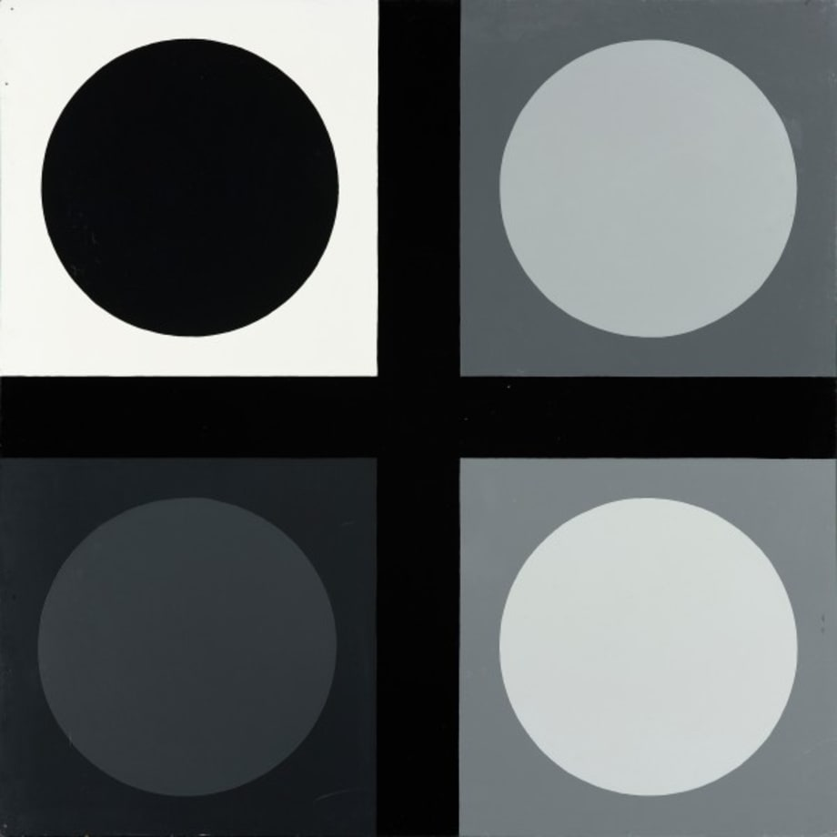 Untitled (tic tac toe painting) by Estate of Poul Gernes