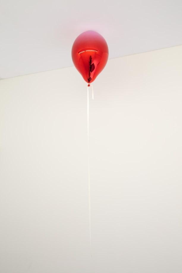 Light Purple and Dark Red Mirror Balloon by Jeppe Hein