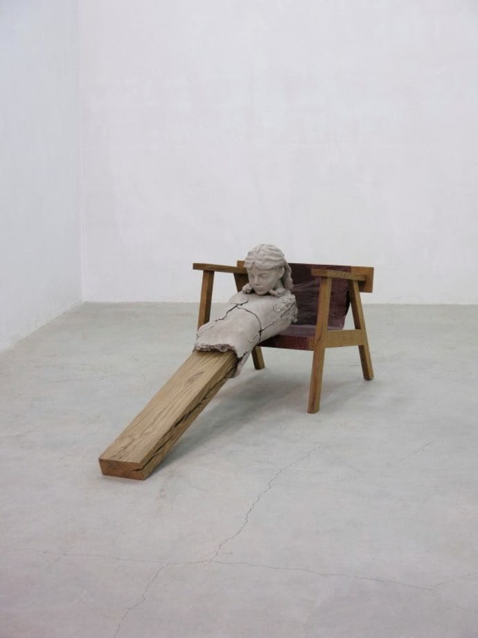 Dry Figure on Chair by Mark Manders