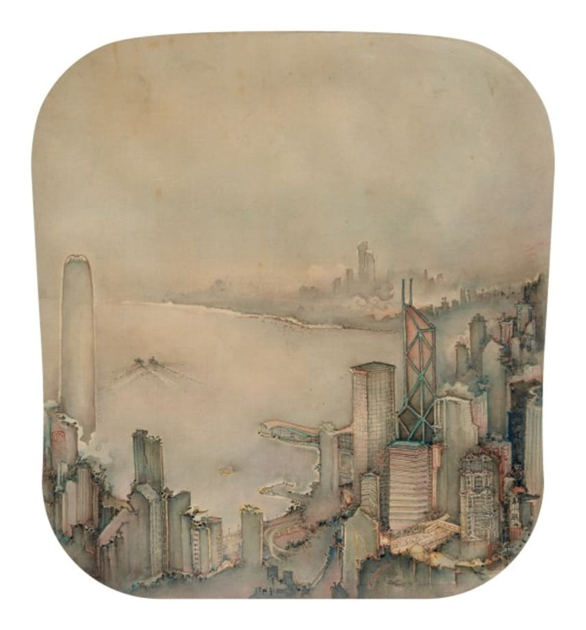 The First Glimmer of Dawn on Hong Kong Harbour by Jianguo Xu