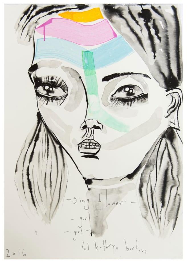 sing flower girl girl by Del Kathryn Barton