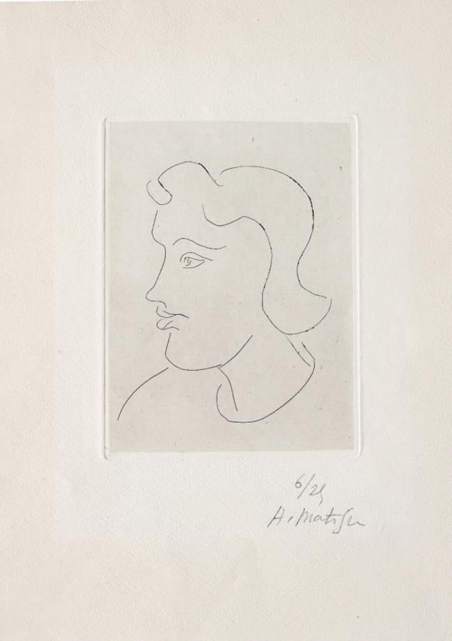 Profil de jeune femme by Henri Matisse