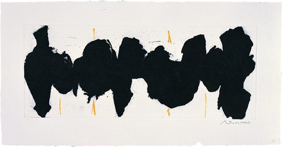 Running Elegy II, Yellow State by Robert Motherwell