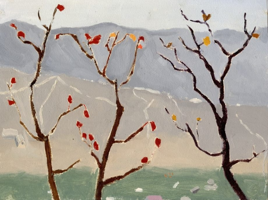 The last few Red Leaves by Li Shan