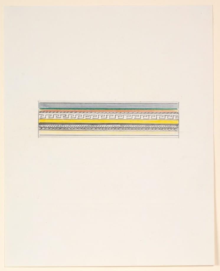 Entablature (Study) by Roy Lichtenstein