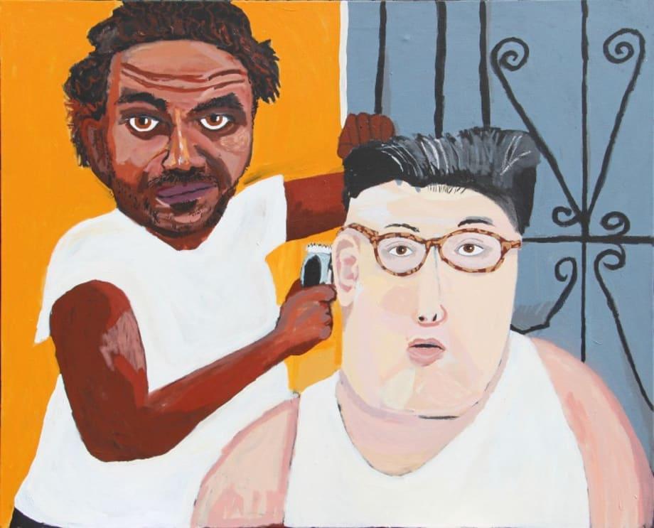 Self Portrait after Henry Taylor by Vincent Namatjira