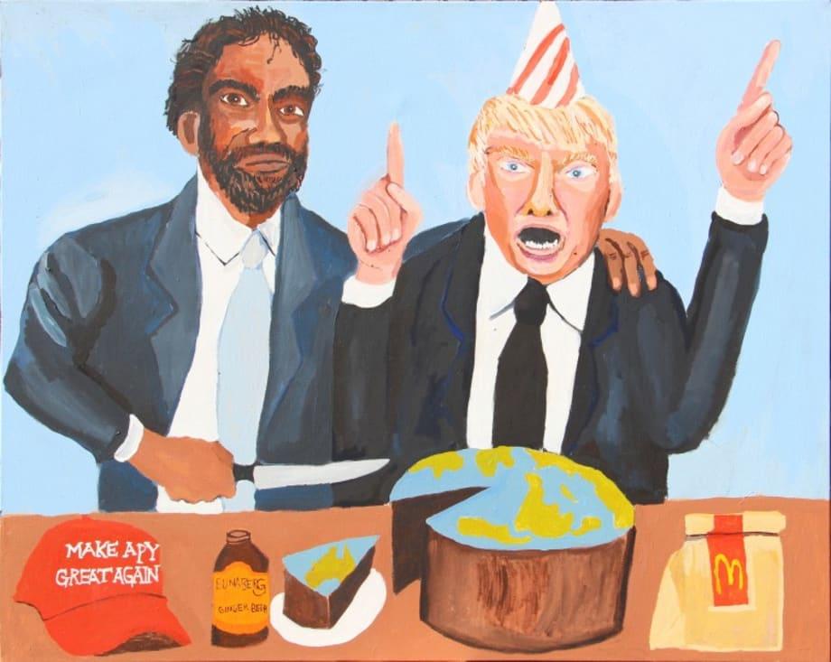 Vincent & Donald (Happy Birthday) by Vincent Namatjira