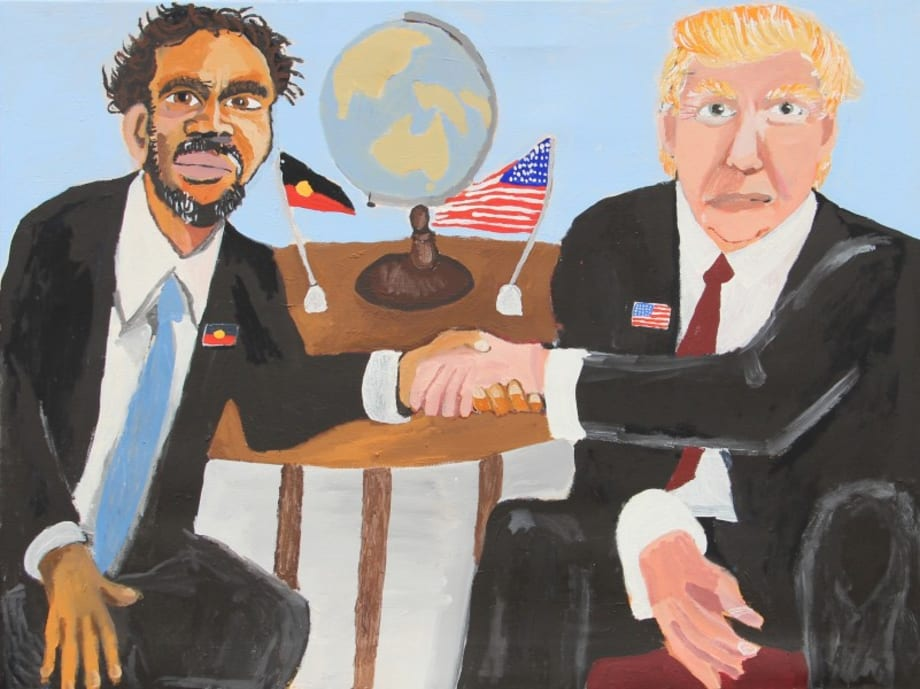 Vincent & Donald (The Handshake) by Vincent Namatjira