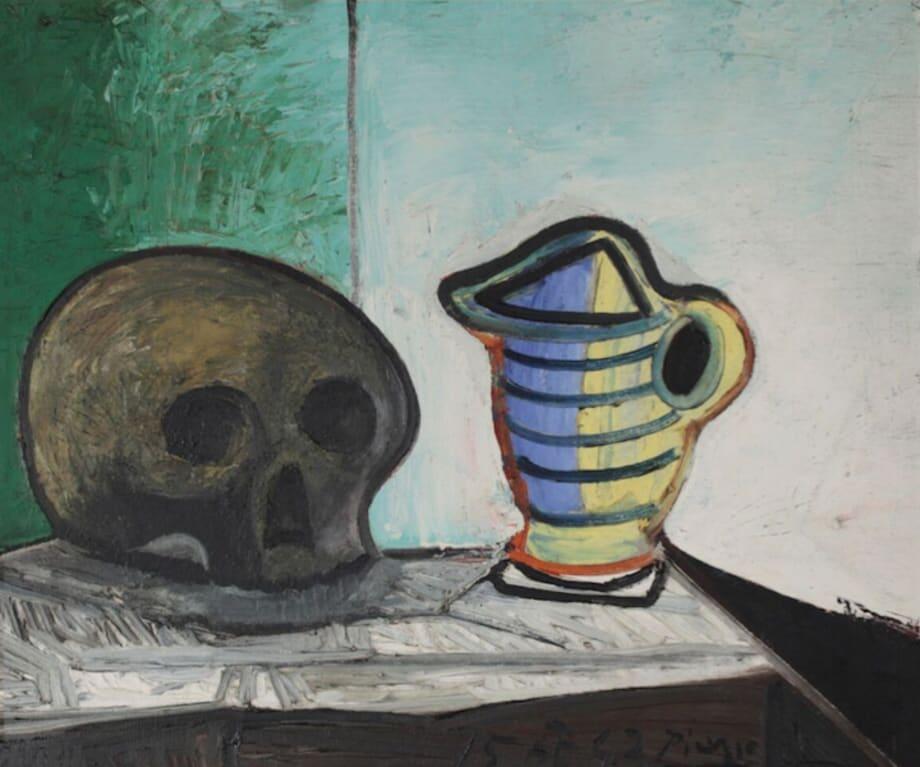 Nature morte au crâne et au pot by Pablo Picasso