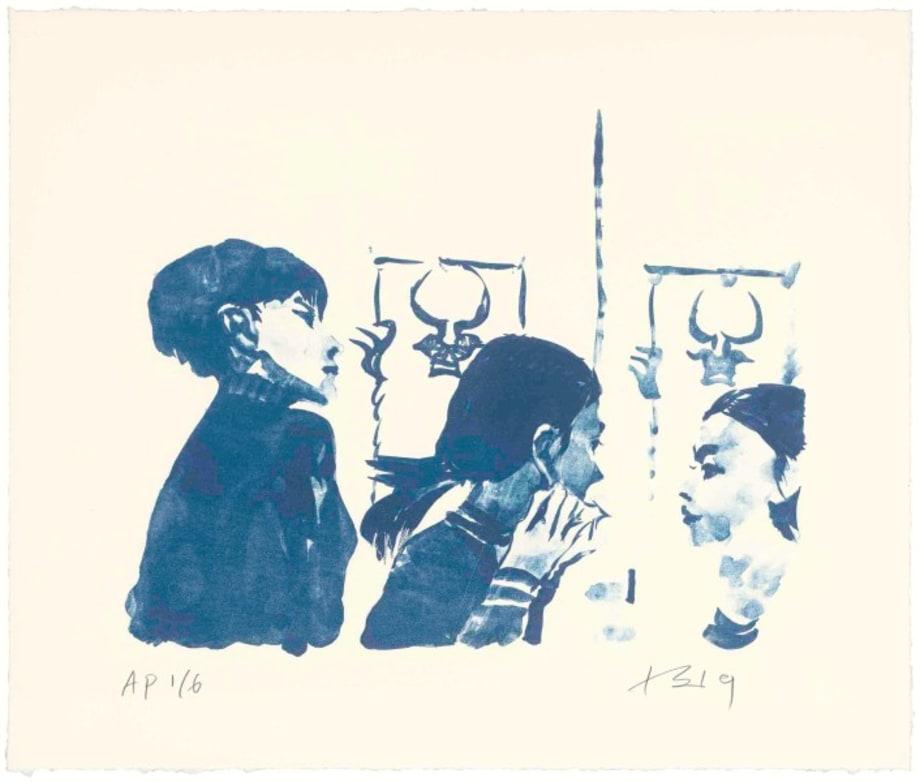 Hong Hai'er Putting in Earrings 2 by Liu Xiaodong