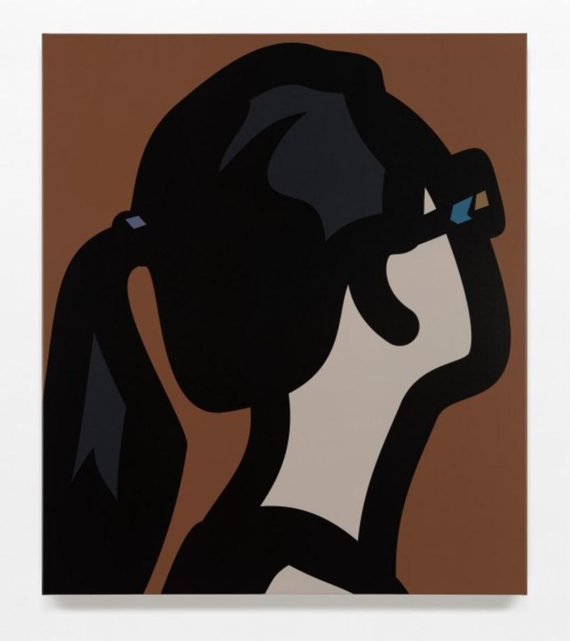 Dark glasses woman. 2. by Julian Opie