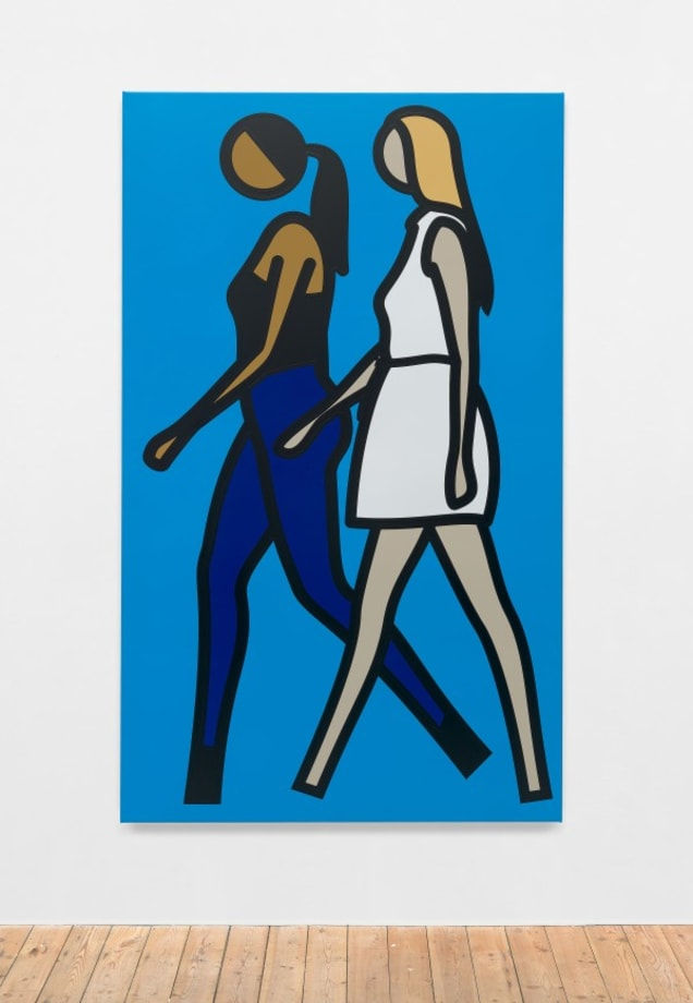 Imogen and Tina. 1. by Julian Opie