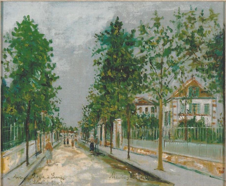 Avenue Rozée à Sannois by Maurice Utrillo