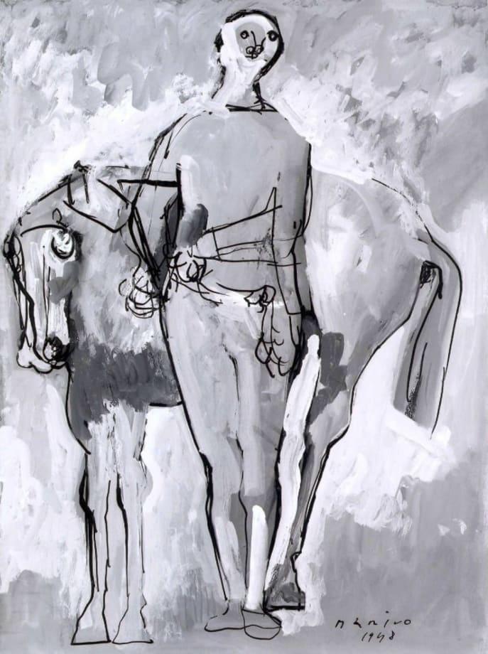 Giocoliere e cavallo by Marino Marini