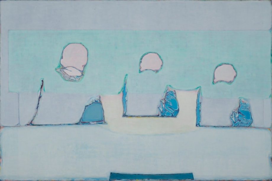 Like the Back of Three Figures with Pink and Green by Tang Yongxiang