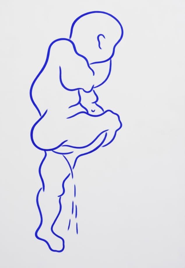 Ohne Titel (Pinkler) by Aldo Walker