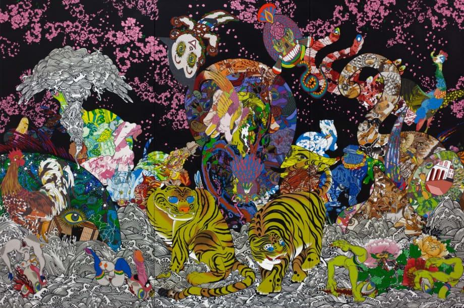 Jakuchu Paean by Keiichi Tanaami