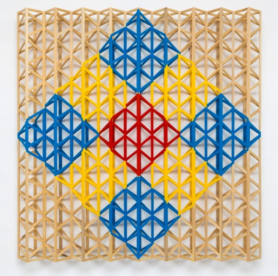 Red Square Breaking into Primary Colours by Rasheed Araeen