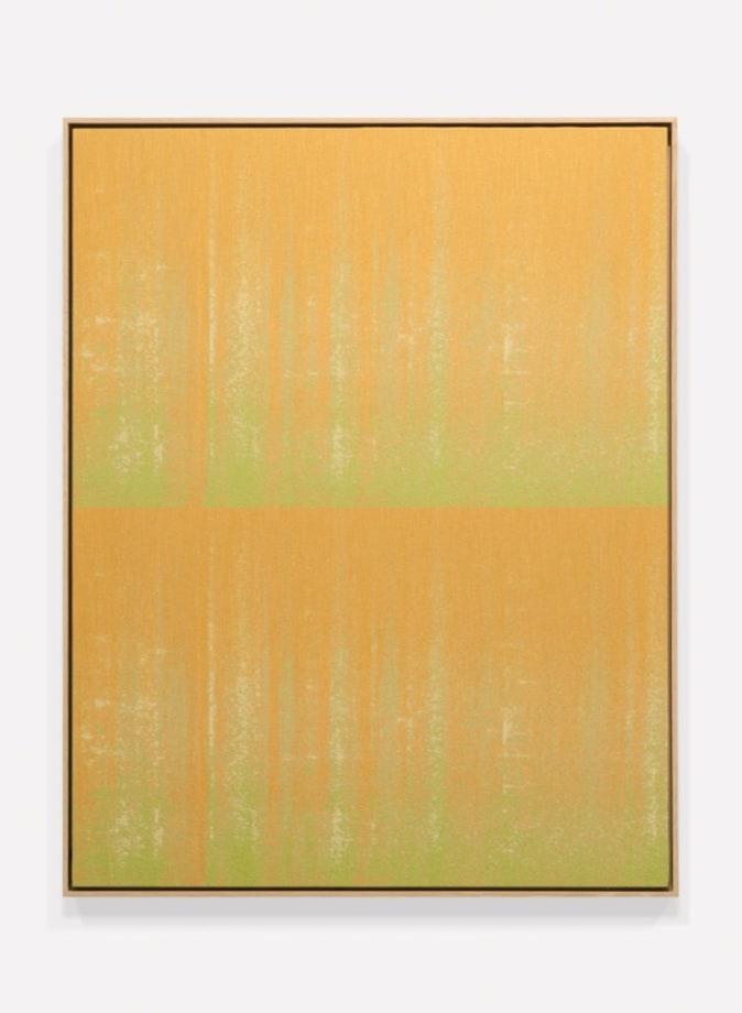 Negative Entropy (Bally Ribbon Mills, Shuttle Loom, Orange, double) by Mika Tajima