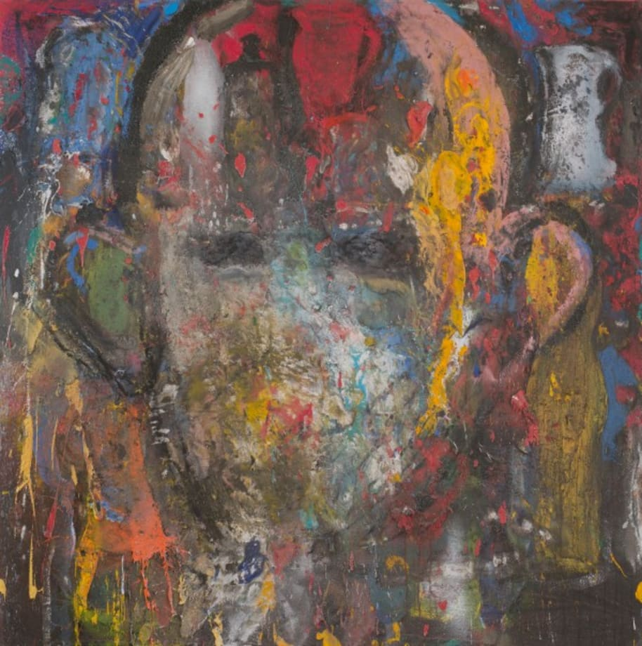 The King in Blue Heaven by Jim Dine