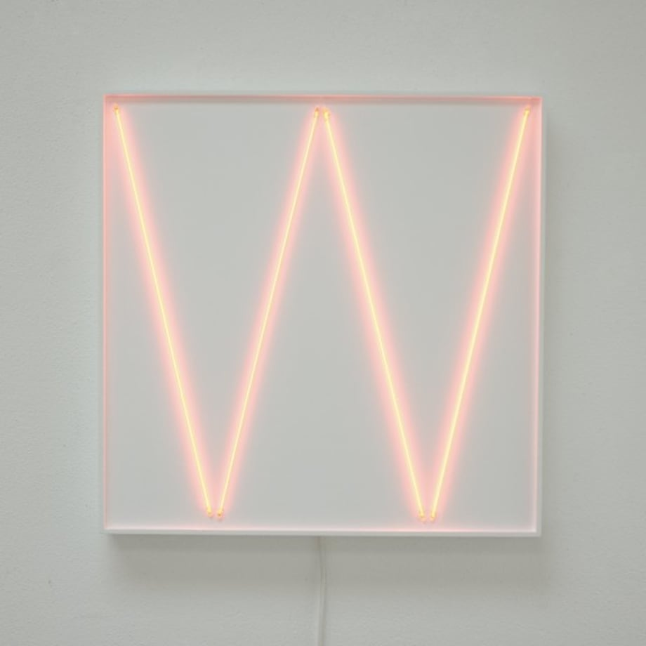 2 néons 76°-2 néns 104° avec 4 rythmes interférents by François Morellet