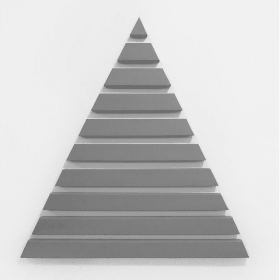 Triangle in 10 Parts by Alan Charlton